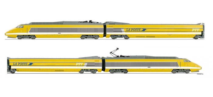 Coffret TGV La  Poste, livrée d'origine