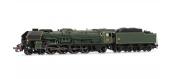 Modélisme ferroviaire : JOUEF HJ2241 - Locomotive à vapeur 241 P 28, tender 34P, dépôt de La Chapelle, DCC, Son