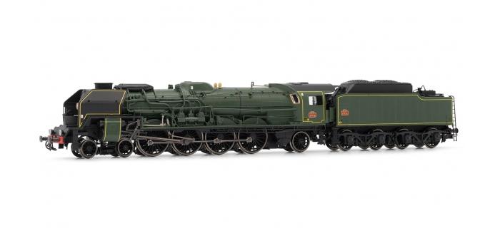 Modélisme ferroviaire : JOUEF HJ2240 - Locomotive à vapeur 241 P 28, tender 34P, dépôt de La Chapelle