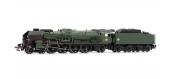 Modélisme ferroviaire : JOUEF HJ2243 - Locomotive à vapeur 241 P 17, tender 34P325, dépôt du Mans, Version fin de service, DCC, Son