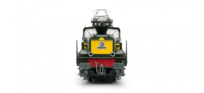 JOUEF HJ2275 - Locomotive e?lectrique CC 14100, livre?e verte, faces frontales jaunes, fanaux obture?s