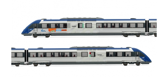 Train électrique :  JOUEF HJ2282 - Automotrice Diesel X72500, livrée Languedoc Roussillon, SNCF époque V DCC sonorisé