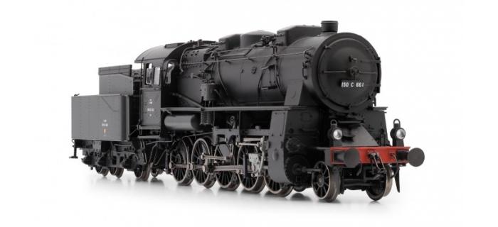 Modélisme ferroviaire : JOUEF HJ2298 - Locomotive à Vapeur 150C 661 (EX-AL), Dépôt de Longwy, SNCF, DCC, sonorisée