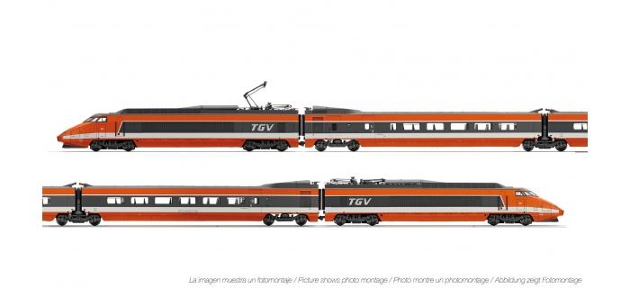 Train électrique : JOUEF HJ2327 - Coffret TGV Sud-Est livre?e orange, SNCF