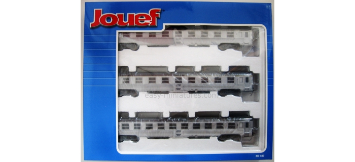 modelisme ferroviaire jouef HJ4042 Voitures DEV Inox longues, coffret 3 voitures