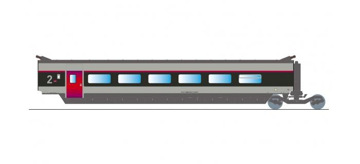 Train électrique : JOUEF HJ4089 - TGV Sud-Est nouvelle livrée, voiture intermédiaire de 2ème classe