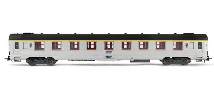 train électrique : JOUEF HJ4096 - Voiture DEV inox de 1ère classe A9, cartouche corail