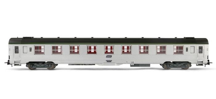 Train électrique : JOUEF HJ 4097 - Voiture DEV inox de 2ème classe B9, cartouche corail