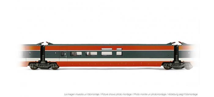 Train électrique : JOUEF HJ4108 - Voiture interme?diaire TGV Sud Est Bar livre?e orange