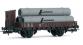 HJ6084 Wagon à bords plats avec guérite de freins, chargé de tubes marqués