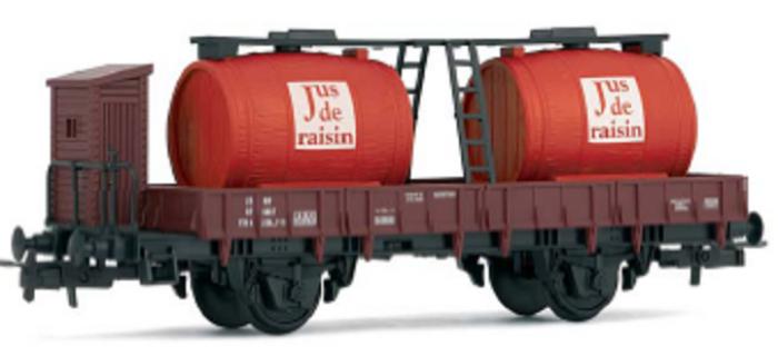 modelisme ferroviaire jouef HJ6085 Wagon à bi foudres pour jus de raisin * train electrique