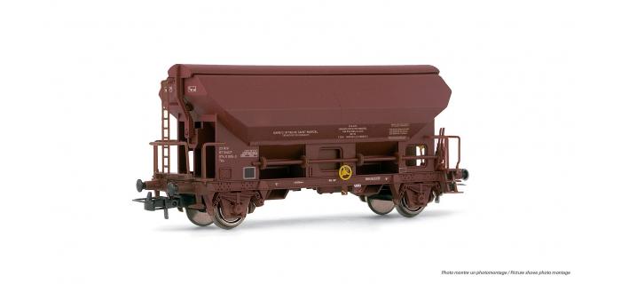 Modélisme ferroviaire : HJ6097 - Wagon trémie type Tds à essieux livrée brun