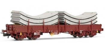 Train électrique : JOUEF HJ6119 - Wagon plat Remms avec chargement de voussoirs