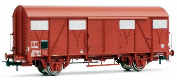 MODELISME FERROVIAIRE JOUEF 6122 - Wagon couvert G4 à frises, Ep. III