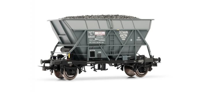 "Modélisme ferroviaire : JOUEF HJ6124 - Wagon trémie EF30 ""Denain Anzin"", époque III"