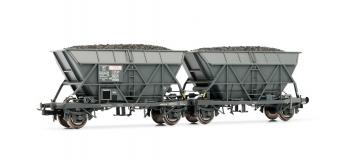 """Modélisme ferroviaire : JOUEF HJ6127 - Couplage de wagons trémie EF60 """"SITRAM"""", époque III"""