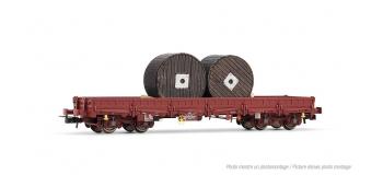 Train électrique : JOUEF HJ6134 - Wagon plat a? bogies Remms avec chargement