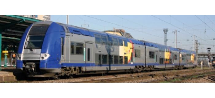 Automoteur Z 24500, SNCF, 3 caisses, livrée Lorraine