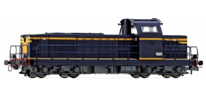 Locomotive Diesel BB 66000, livrée bleu & bandes jaunes