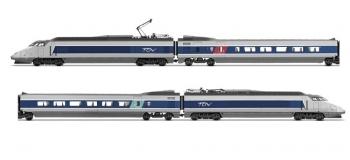 Modélisme ferroviaire : JOUEF HJ2356 - Coffret TGV Sud Est, bleu et gris métal, logo Carmillon