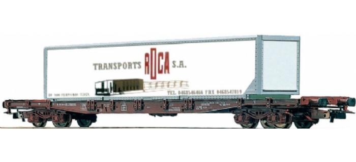 modelisme ferroviaire JOUEF HJ6018 Wagon plat avec container