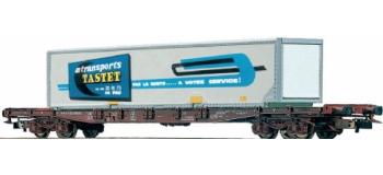 modelisme ferroviaire JOUEF HJ6019 Wagon plat avec Container