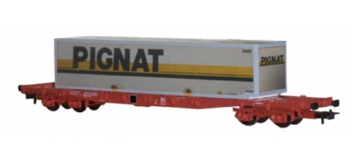 modelisme ferroviaire JOUEF HJ6031 Wagon plat avec container