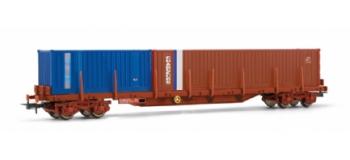 jouef HJ6065 Wagon plat à rancher, chargé de 2 containers
