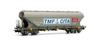 Train électrique :  JOUEF HJ6130 - Wagon céréalier à parois latérales planes SNCB uniquement sur réseau français