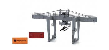 Modélisme ferroviaire : HORNBY - HL8000 - Grue à conteneurs. Avec 2 conteneurs