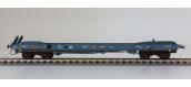 Modélisme ferroviaire : LSMODEL LSM30137 - Wagon plat porte conteneur KB livrée gris bleu SEGI
