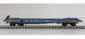 Modélisme ferroviaire : LSMODEL LSM30138 - Wagon plat porte conteneur KB livrée gris bleu SEGI
