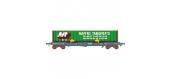 Modélisme ferroviaire : LSMODEL LSM30298 - Wagon plat porte conteneur type KB NOVATRANS