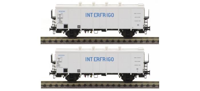 Modelisme ferroviaire : LSMODEL LSM30511 - Coffret de 2 wagons frigo Icefs