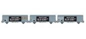 Modelisme ferroviaire LSMODEL LSM30655 - Coffret de 3 wagons couvert iK EVS logo