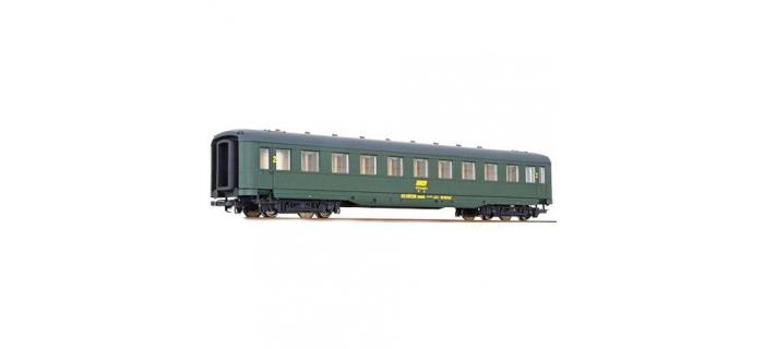 modélisme ferroviaire : LS MODELS LP334593 - Voiture voyageurs seconde classe livrée verte avec logo encadré