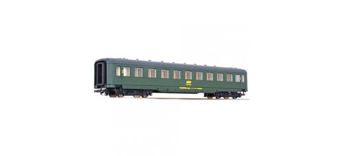 modélisme ferroviaire : LS MODELS LP334594 - Voiture voyageurs seconde classe livrée verte avec logo encadré