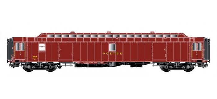LSM40431 - Voiture OCEM PEz Y24, brun PTT, toit brun, Ep.III - LS Models