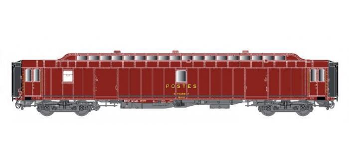 LSM40432 - Voiture OCEM PEz Y24, brun PTT, toit brun, Ep.IV - LS Models