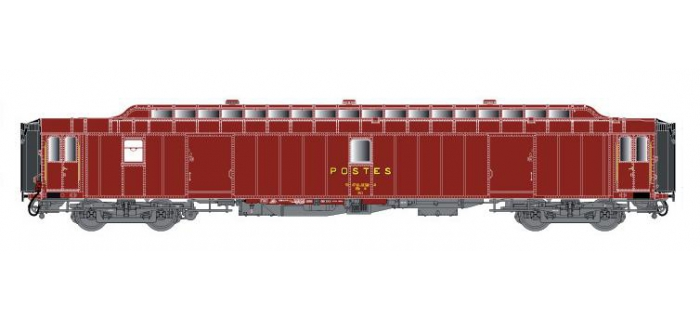 LSM40433 - Voiture OCEM PEz Y24, brun PTT, toit brun, Ep.IV - LS Models
