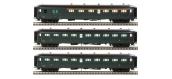 Modélisme ferroviaire : LS Model - LSM40187 - Coffret de 3 Voitures Rapide Nord A6D B9 B9
