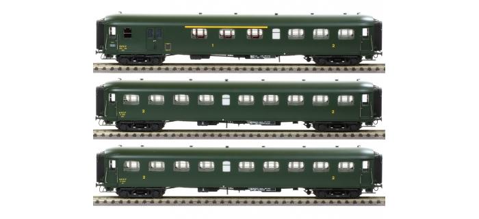 Modélisme ferroviaire : LS Model - LSM40189 - Coffret de 3 Voitures Rapide Nord A3B3D B9 B9