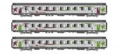 Modélisme ferroviaire : LS Model - LSM40291 - Coffret de 3 voitures VTU Corail Intercités Basse Normandie SNCF