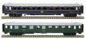 Modélisme ferroviaire : LS Model - LSM40312 - Coffret de 2 voitures - Voiture couchettes PO Midi et voiture lits CIWL