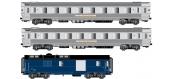 Modélisme ferroviaire : LS Model - LSM41101 - Coffret de 2 voitures et 1 fourgon MISTRAL 56 laison