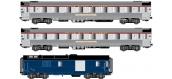 Modélisme ferroviaire :  LS Model - LSM41105 - Coffret de 2 voitures et 1 fourgon MISTRAL 56 liaison