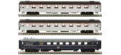 Modélisme ferroviaire : LS Model - LSM41131 - Coffret de 3 voitures Mistral