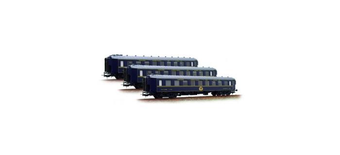 Modélisme ferroviaire :  LS MODELS LSM49123 - Coffret de 3 voitures CIWL 1968 CL1 ép IV