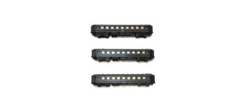 Modélisme ferroviaire : LS MODELS LSM49122 - Coffret de 3 voitures CIWL 1956 CL1 CL2 ép III