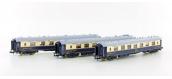 Modélisme ferroviaire : LS Model - LSM79170 - Set de 3 voitures Pullmann Côte d'Azur 1934